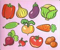 овочі та фрукти картинки для дітей