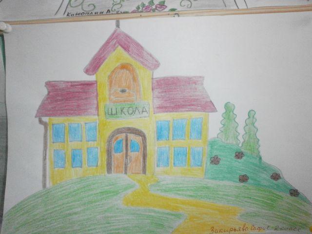 Рисунки из школы моя любимая школа
